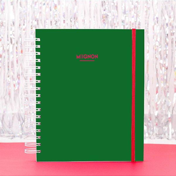 Caderno Universitário - Verde e Rosa
