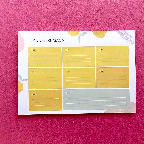 Planner de Mesa - Semanal Horizontal