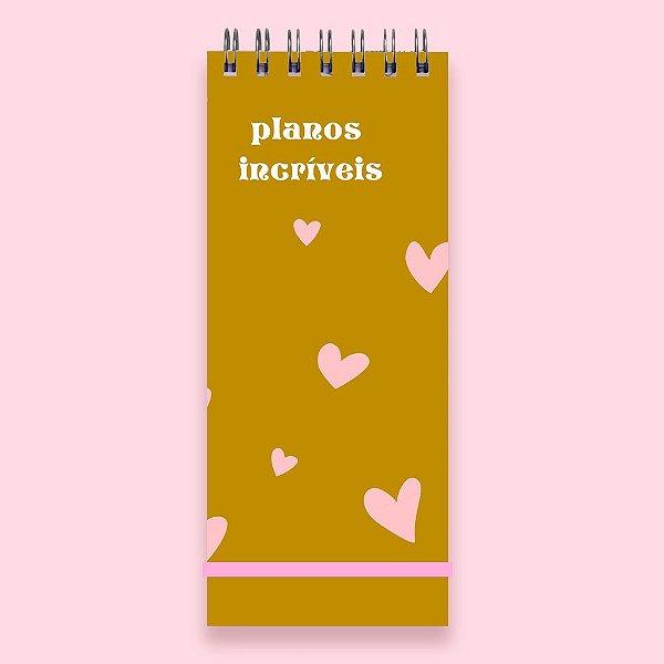 Planner Diário - Planos Incríveis
