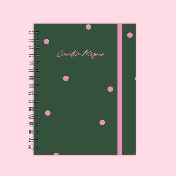 Caderno poá verde