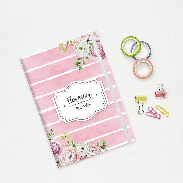 Planner Mensal Mini - Rosa Listrado