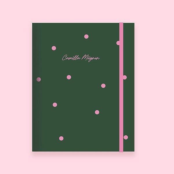 Caderno Flexível -  Poá Verde