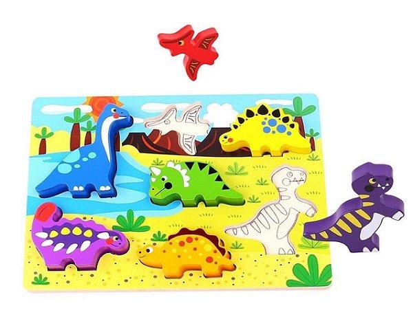 Tabuleiro encaixe - dinossauro