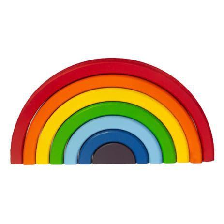 Arco-íris em madeira