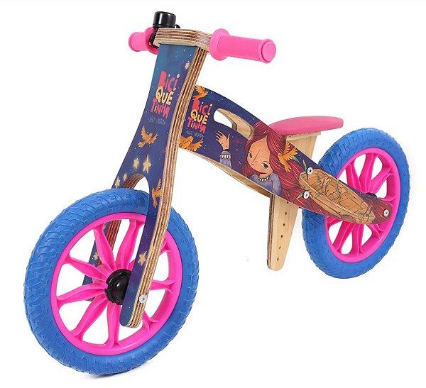 Bicicleta de equilíbrio - Vice-Versa Rosa