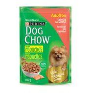 Alimento Cao Dog Chow 100g Adulto Racas Pequenas Salmao