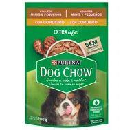 Alimento Cão Dog Chow 100g Sachê Ao Molho Mini Peq Cordeiro