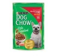 Alimento Cão Dog Chow 100g Sachê Ao Molho Mix Fgo E Carne