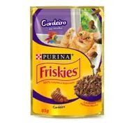 Alimento Gato Friskies 85g Sac Ao Molho Cordeiro
