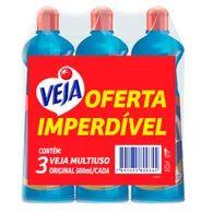 Limpador Multiuso Veja 500ml Com 3 Unid Oferta Imperdível