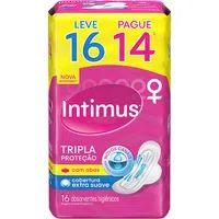 Absorvente Intimus Gel Leve16 Pague14 Com Abas Suave