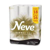 Papel Higienico Folha Tripla Neve Leve 16 Pague 15 20m