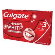 Creme Dental Colgate Luminous White 70g L3p2
