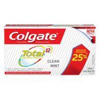 Creme Dental Colgate Total 12 Clean Mint25 %Desc 2 Unid