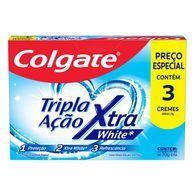 Creme Dental Colgate Tripla Ação 70g Xtra White Com 3 Pr Esp