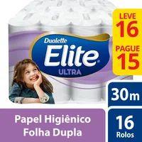 Papel Higienico F Dupla Elite Dualette 30m L16p15 Compacto