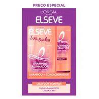 Shampoo 375ml Mais Cond 170ml Elseve Longo Liso Dos Sonhos