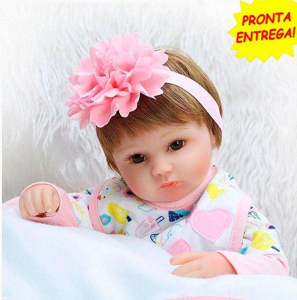 0d031e764a555b Boneca Bebê Reborn menina Realista 45cm - Nina