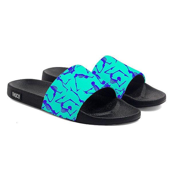 Chinelo Slide Use Thuco Esqueletos Azul
