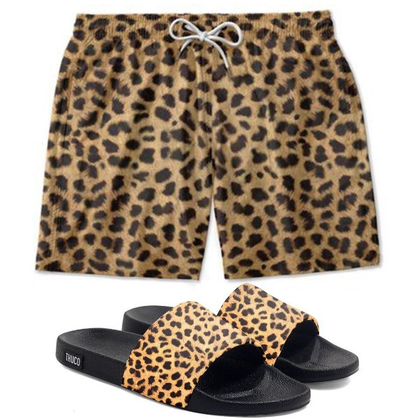 Kit Shorts E Chinelo Slide Onça Use Thuco