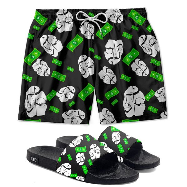 Kit Shorts E Chinelo Slide La Casa