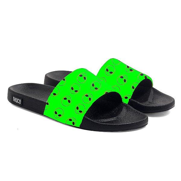 Chinelo Slide Use Thuco Coleção Abduction - Green