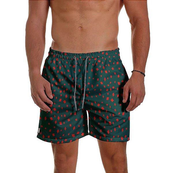 Short Masculino Use Thuco - Coleção POKER -  Naipe Ouro BG Verde