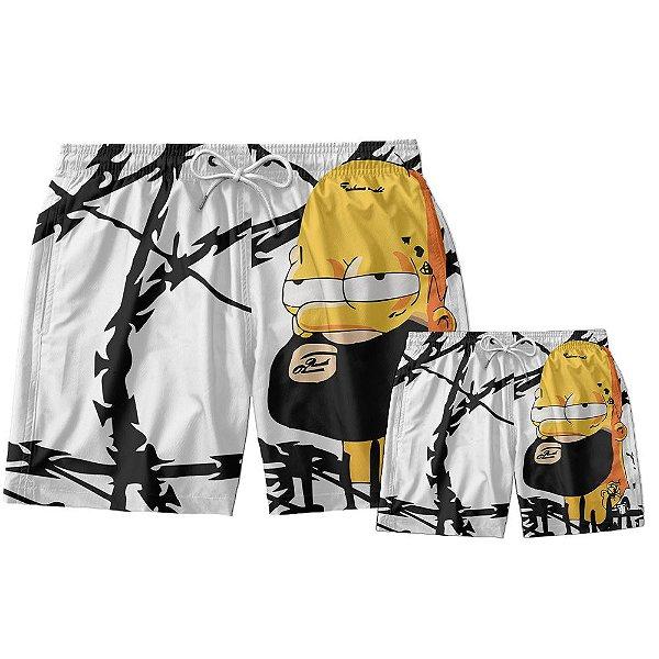 Kit Shorts Pai e Filho Homer Simpson Use Thuco