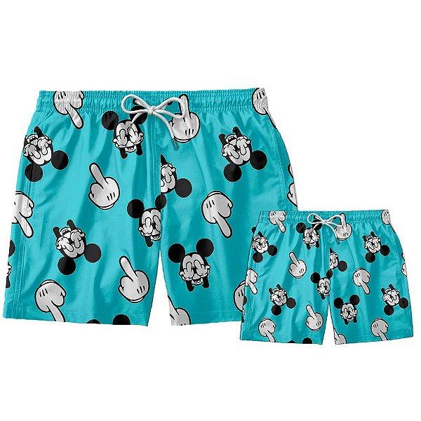 Kit Shorts Pai e Filho Mickey Mouse Use Thuco.