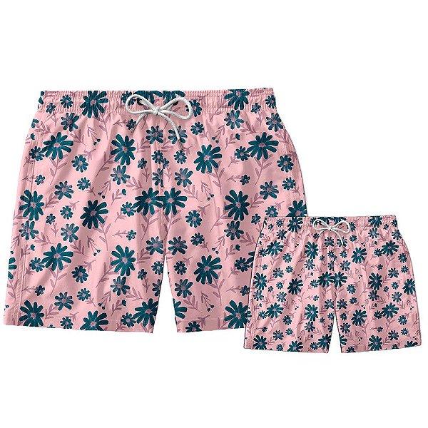 Kit Shorts Pai e Filho Floral Use Thuco.