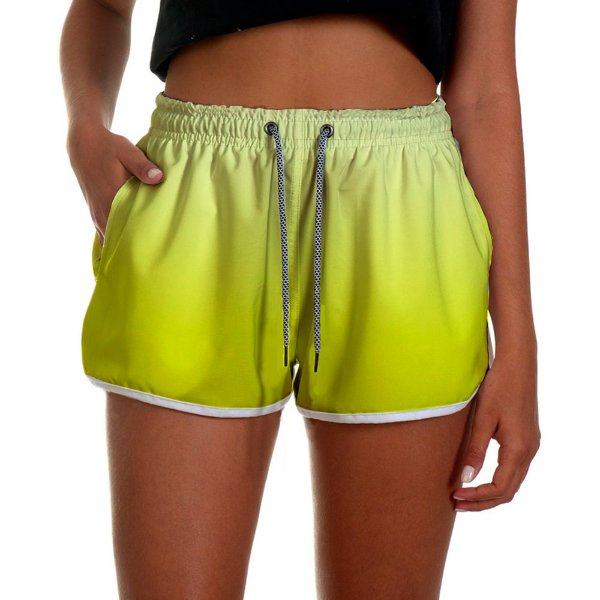 Shorts Feminino Amarelo Degrade UseThuco