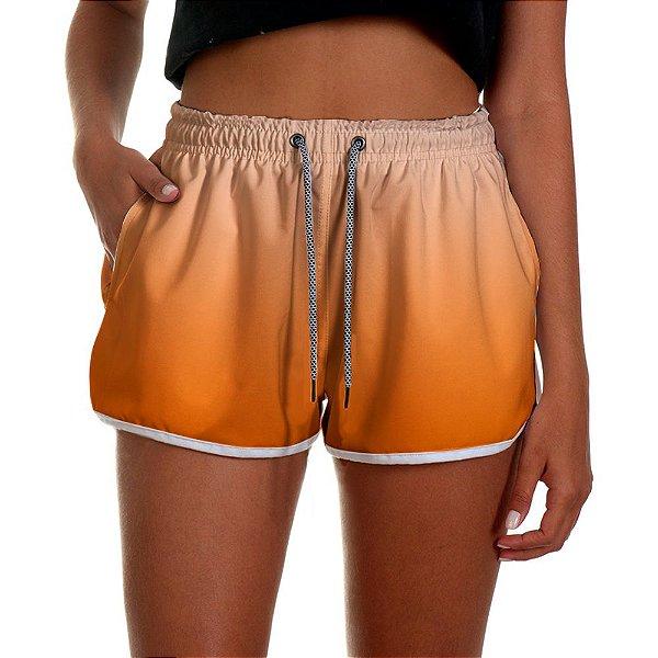 Shorts Feminino Laranja Degrade UseThuco