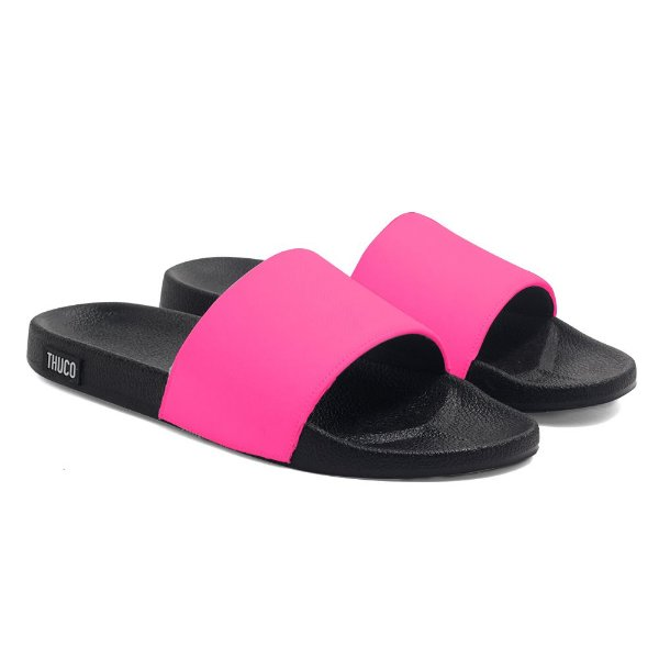 Chinelo Slide Use Thuco Rosa Neon