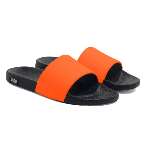 Chinelo Slide Use Thuco Laranja Neon