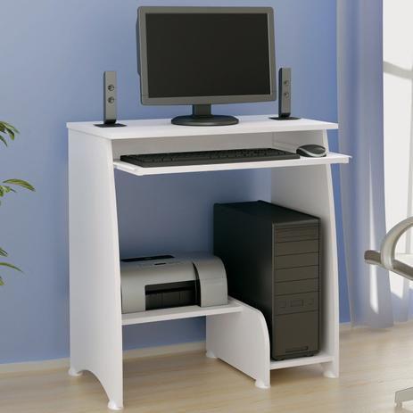 Mesa para Computador com 3 Prateleiras Pixel Artely Branco