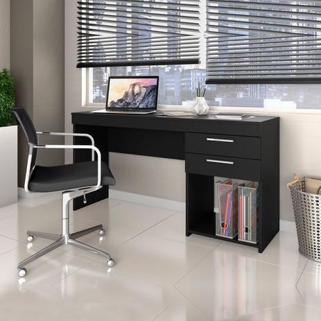 Escrivaninha 2 Gavetas Notável Office Preto
