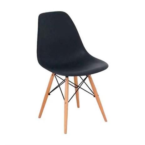 Cadeira Charles Eames Wood Design Eiffel Preto