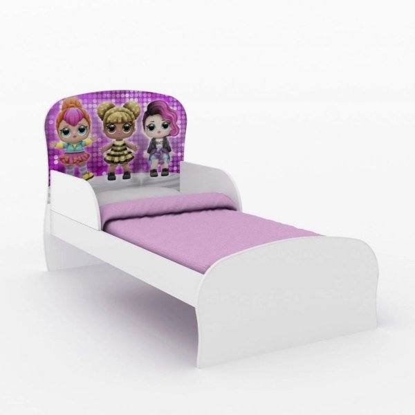 Mini cama Adesivada com Personagens Infantis DJD