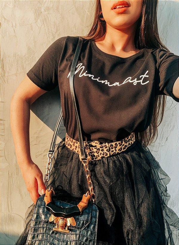 T-shirt Minimalist algodão