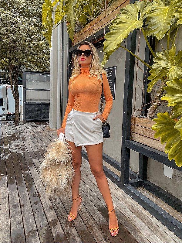 Blusa cacharrel neon orange
