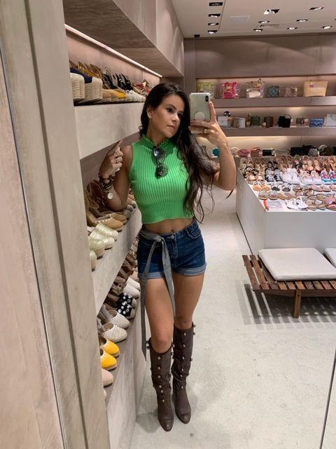 Regata verde neon tricot