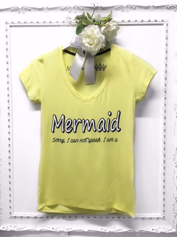 T-shirt Mermaid Yellow