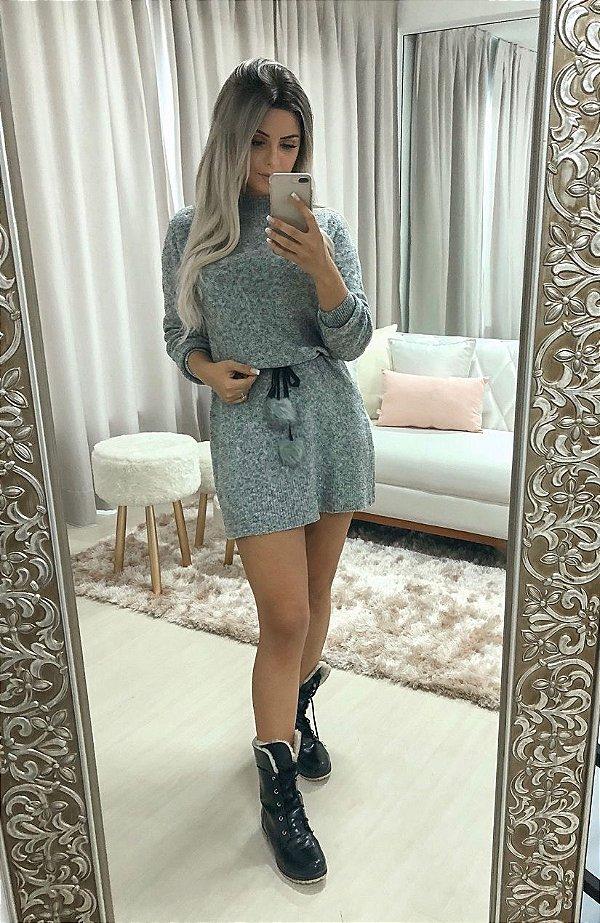 Dress pompom mescla