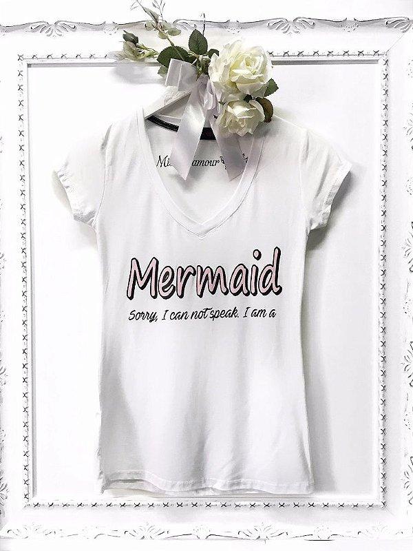 T-shirt Mermaid White