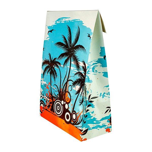 Caixa Formato Envelope Tamanho Único (21x30x09cm) Coqueiros com 5 Caixas