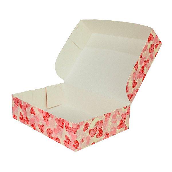 Caixa Monoformato Tamanho Médio (M) (21x15x05cm) Coração com 5 Caixas