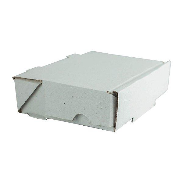 Caixa de Papelão Lisa Nº7 20,5x19x4,3cm para Salgados, Esfihas e Doces com 25 Unidades