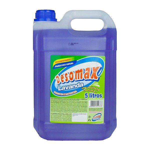 Desinfetante Perfumado Lavanda Ação Bactericida 5L Desomax