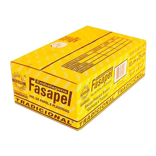 Sacola Plástica 30x40cm 0,0019mm Branca com 1.000 Sacolinhas