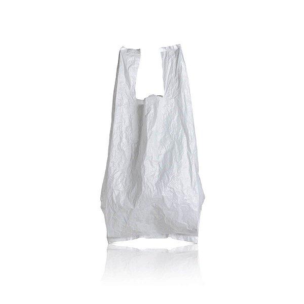 Sacola Plástica 25x35cm 0,0014mm Branca com 1.000 Sacolinhas